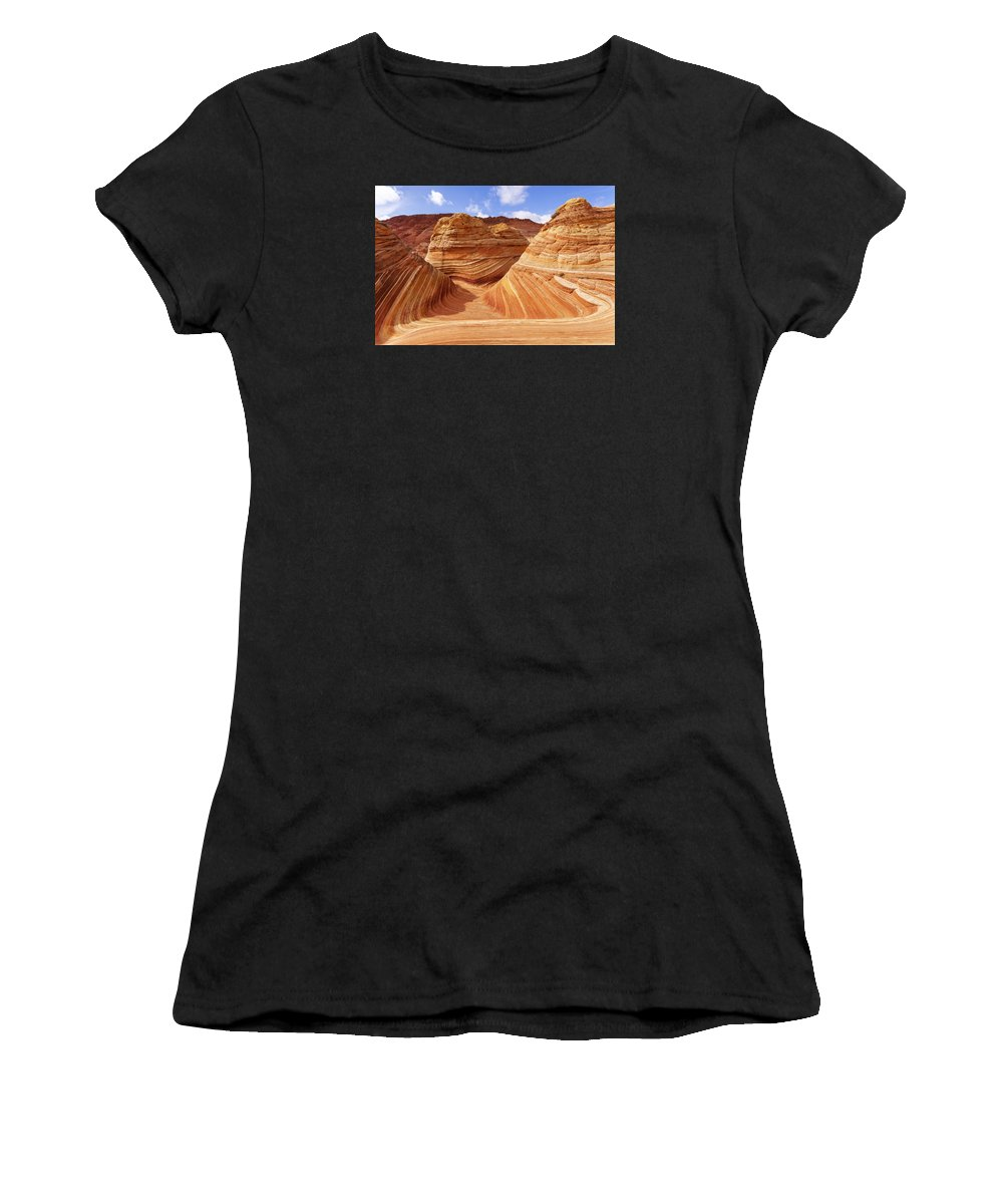 The Wave Women's T-Shirt featuring the photograph The Wave I by Chad Dutson