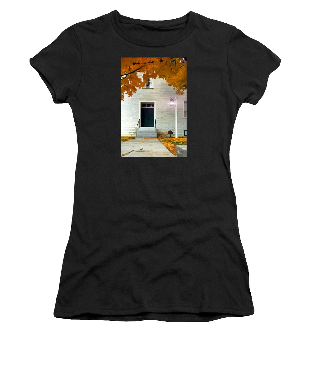 Shaker Women's T-Shirt (Athletic Fit) featuring the photograph The Welcoming Shakers by Sam Davis Johnson