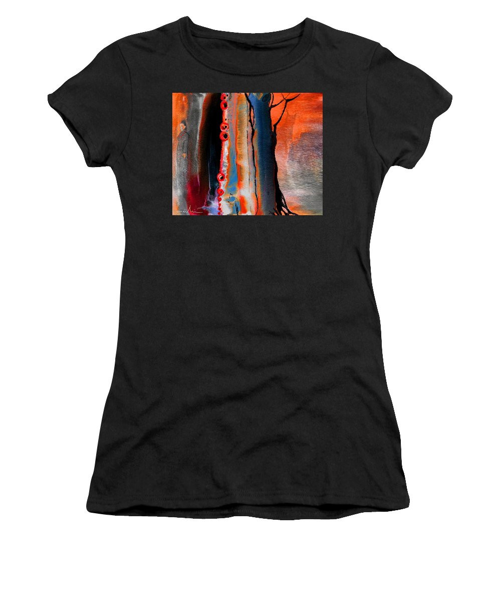 Fantasy Painting Women's T-Shirt (Athletic Fit) featuring the painting The Werewolf by Miki De Goodaboom
