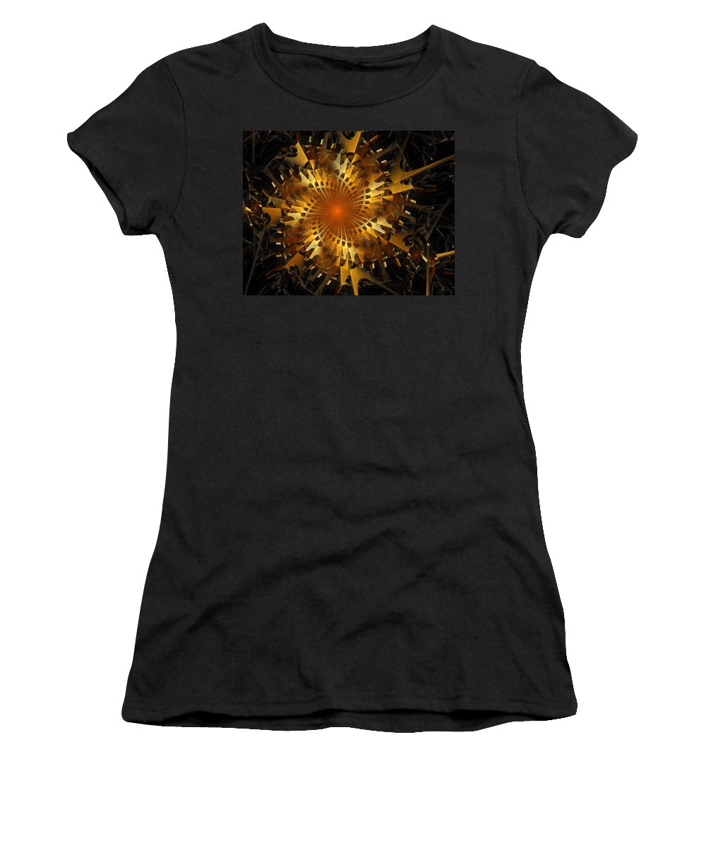 Digital Art Women's T-Shirt (Athletic Fit) featuring the digital art The Wheels Of Time by Amanda Moore