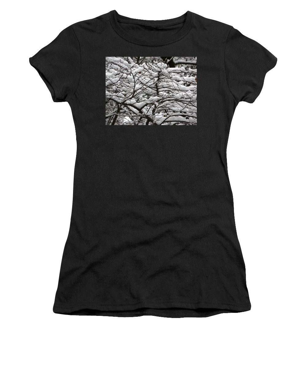 Winter Women's T-Shirt (Athletic Fit) featuring the photograph The Winter Has Arrived by Valerie Ornstein