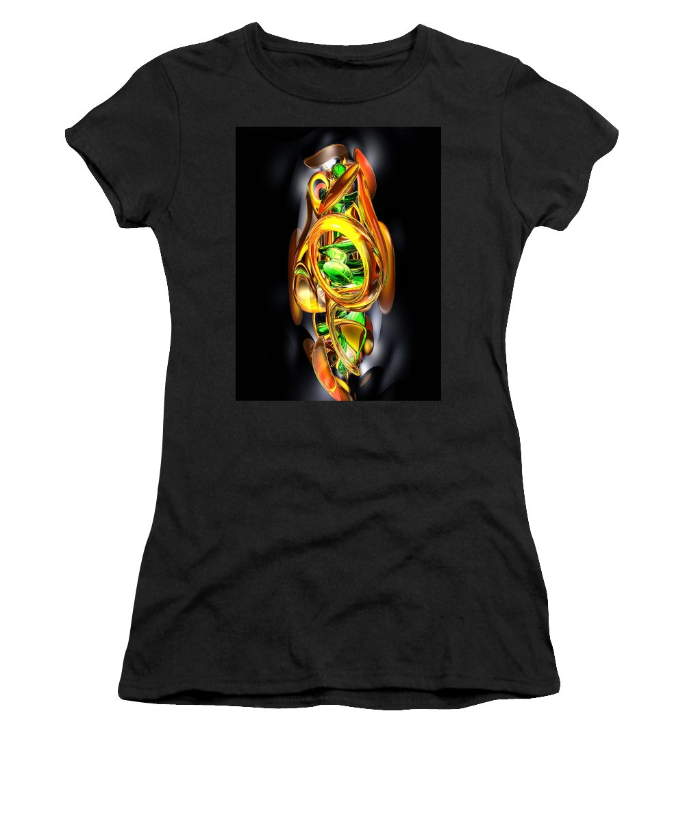 3d Women's T-Shirt (Athletic Fit) featuring the digital art The Wraith Abstract by Alexander Butler