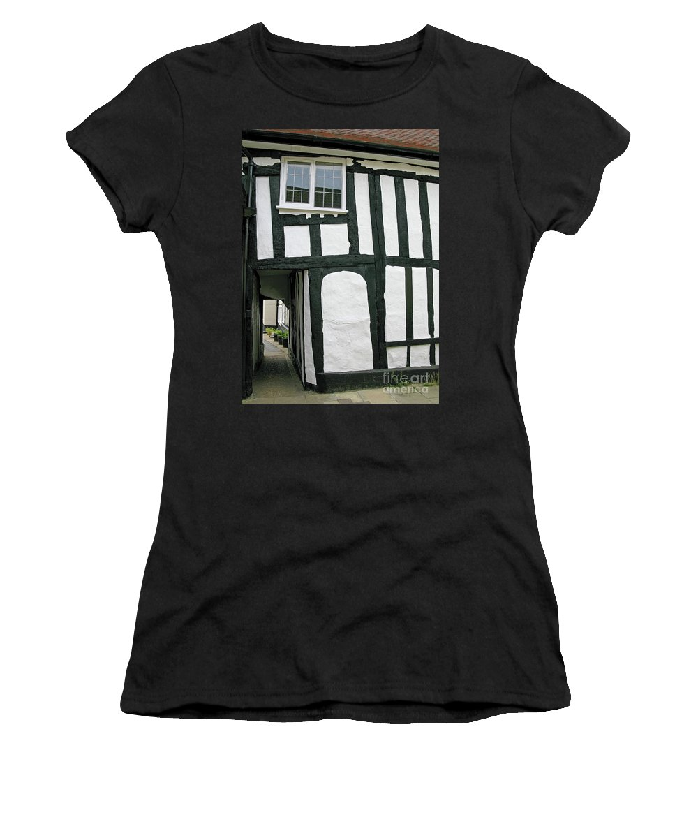 England Women's T-Shirt (Athletic Fit) featuring the photograph There Was A Crooked Man by Ann Horn