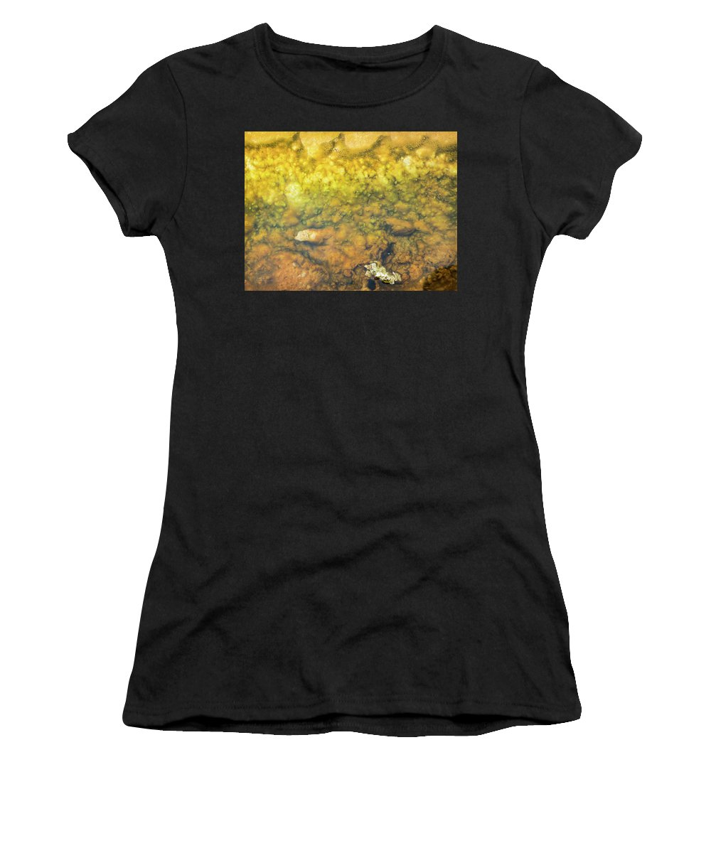 New Zealand Women's T-Shirt (Athletic Fit) featuring the photograph Thermal Pool I by M M Rainey