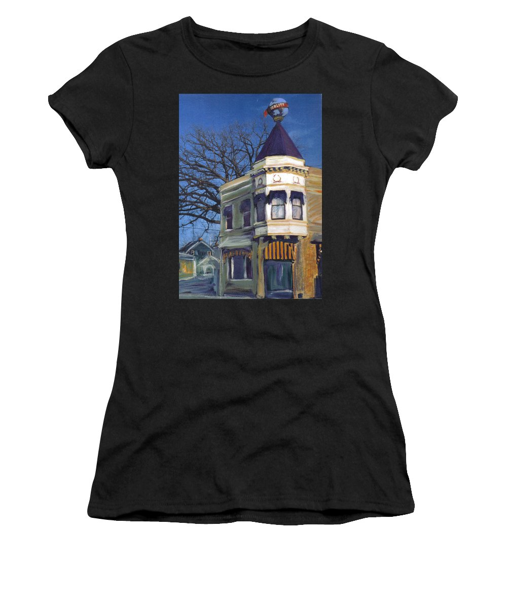 Miexed Media Women's T-Shirt (Athletic Fit) featuring the mixed media Three Brothers by Anita Burgermeister