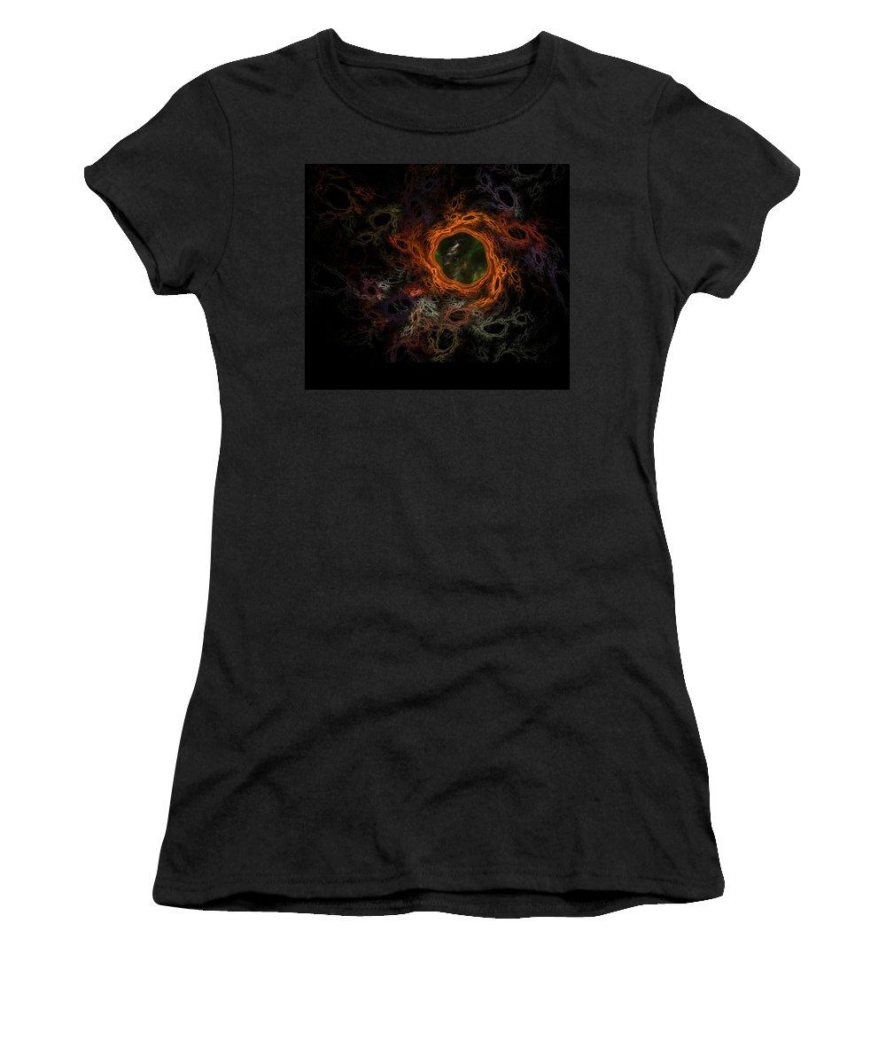 Fantasy Women's T-Shirt featuring the digital art Through The Worm Hole by David Lane