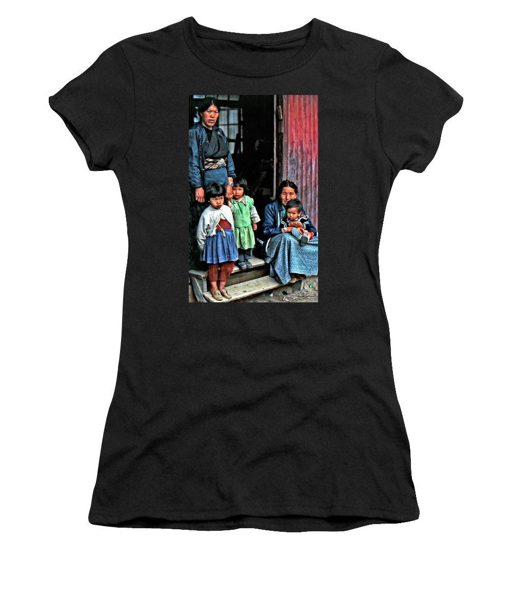 Darjeeling Women's T-Shirt featuring the photograph Tibetan Refugees by Steve Harrington
