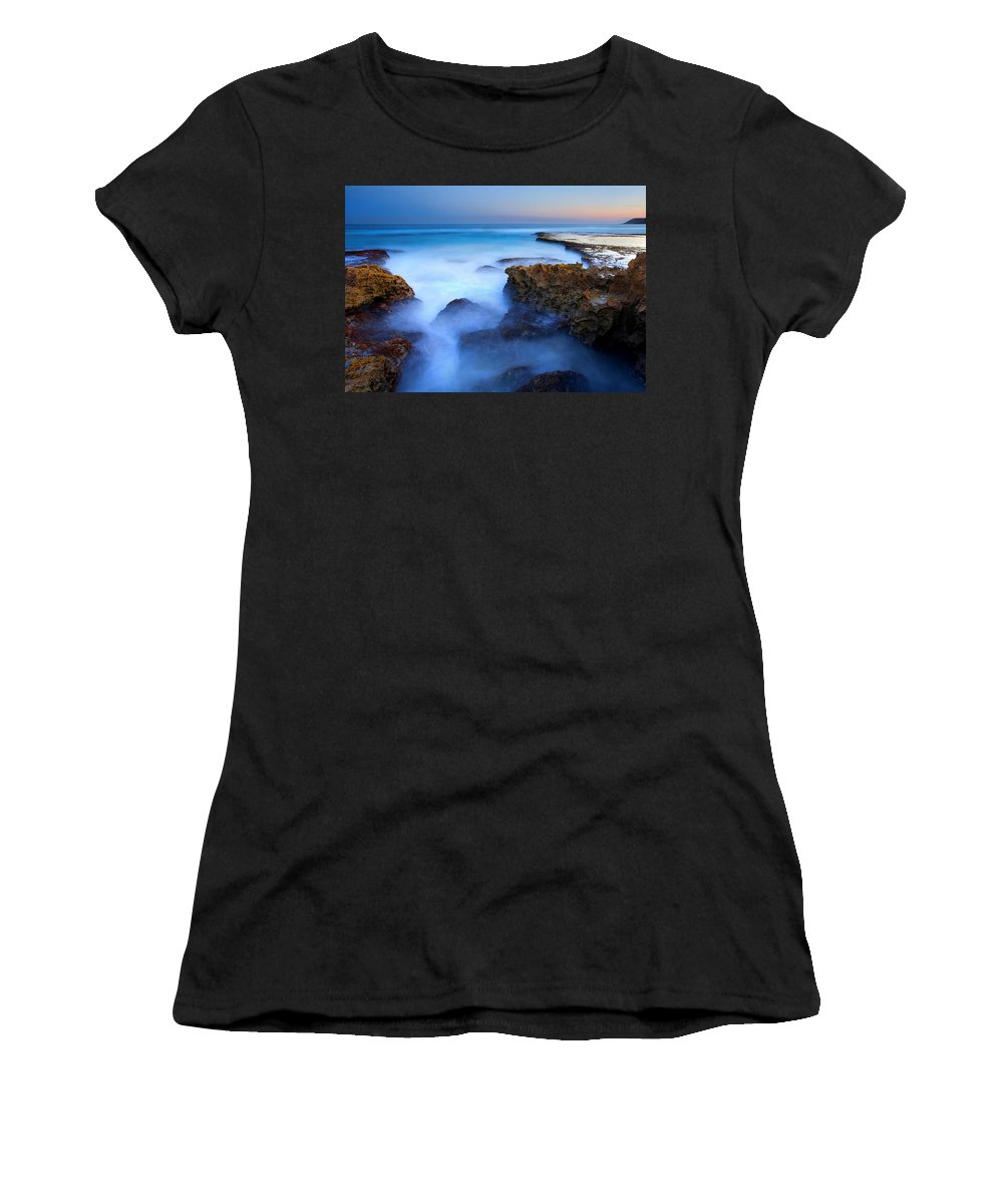 Pennington Bay Women's T-Shirt (Athletic Fit) featuring the photograph Tidal Bowl Boil by Mike Dawson