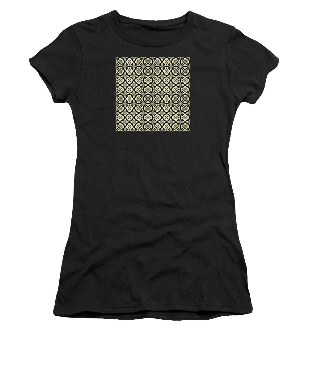 Abstract Women's T-Shirt featuring the digital art Tiles.2.289 by Gareth Lewis