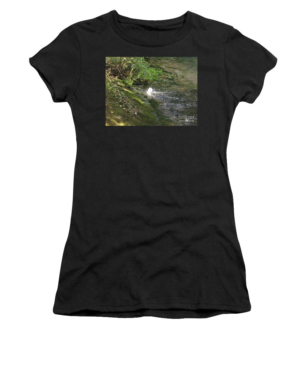 River Women's T-Shirt (Athletic Fit) featuring the photograph Timava's Spring I by Dragica Micki Fortuna