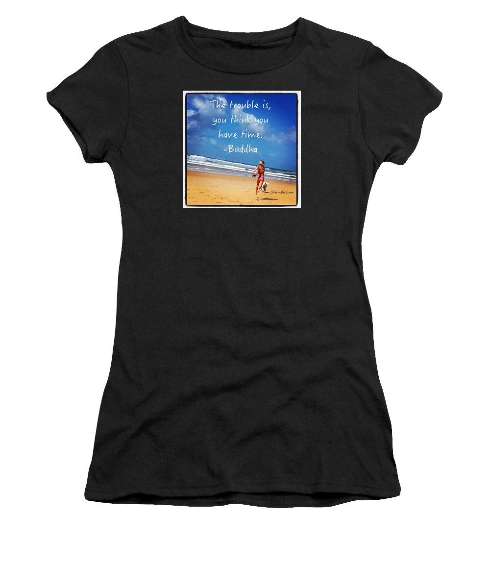 Time Women's T-Shirt (Athletic Fit) featuring the photograph Time by Hilary WILCHER