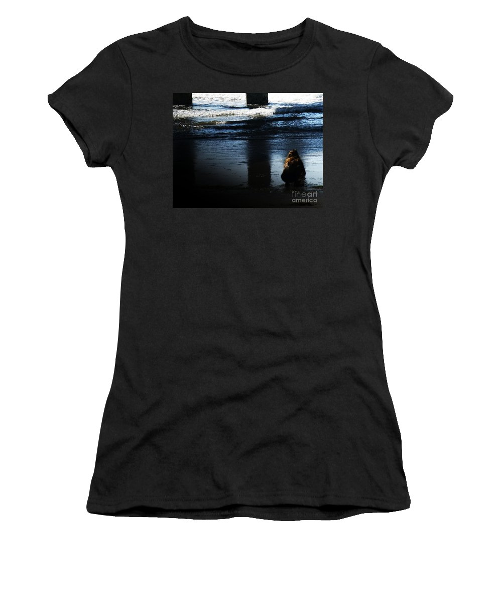 Pacific Women's T-Shirt (Athletic Fit) featuring the photograph Time by Linda Shafer