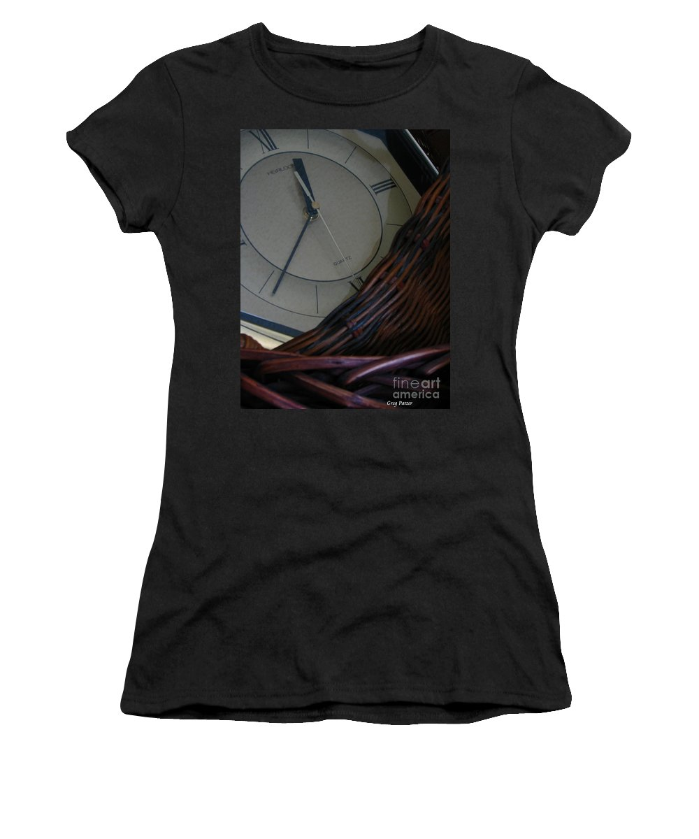 Patzer Women's T-Shirt (Athletic Fit) featuring the photograph Time Standing Still by Greg Patzer