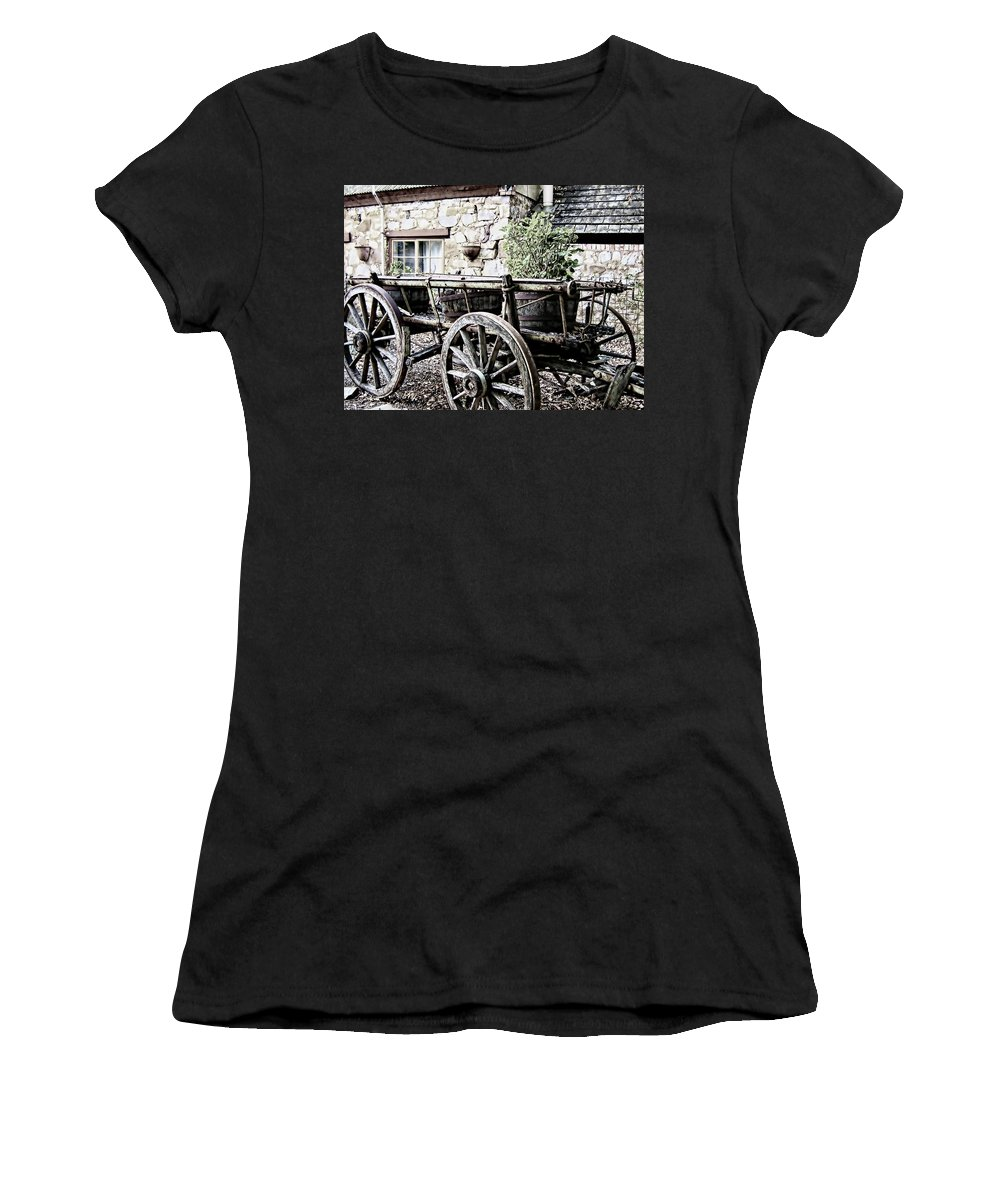 Wagon Women's T-Shirt featuring the photograph Time To Rest by Douglas Barnard