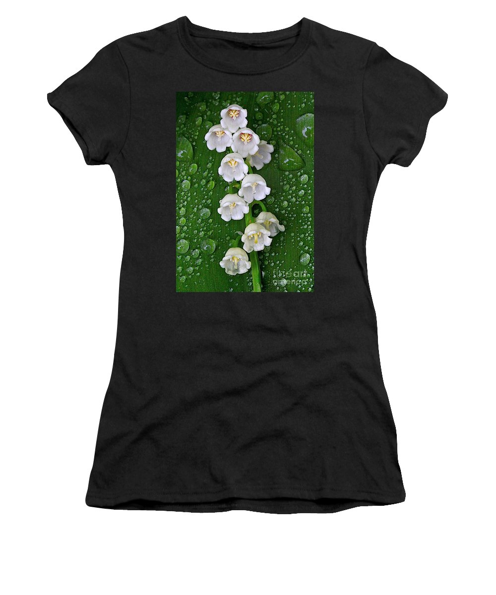 Related Tags: Flowers Artwork Women's T-Shirt (Athletic Fit) featuring the photograph Tiny Bells by Robert Pearson