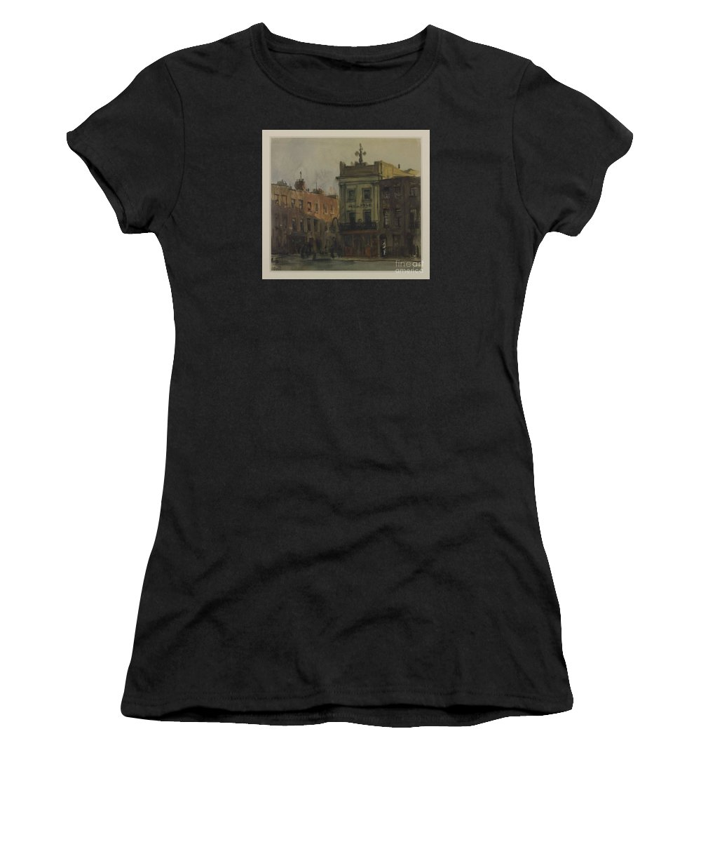 Francis Dodd 1874�1949 Title Cumberland Market Women's T-Shirt (Athletic Fit) featuring the painting Title Cumberland Market by MotionAge Designs