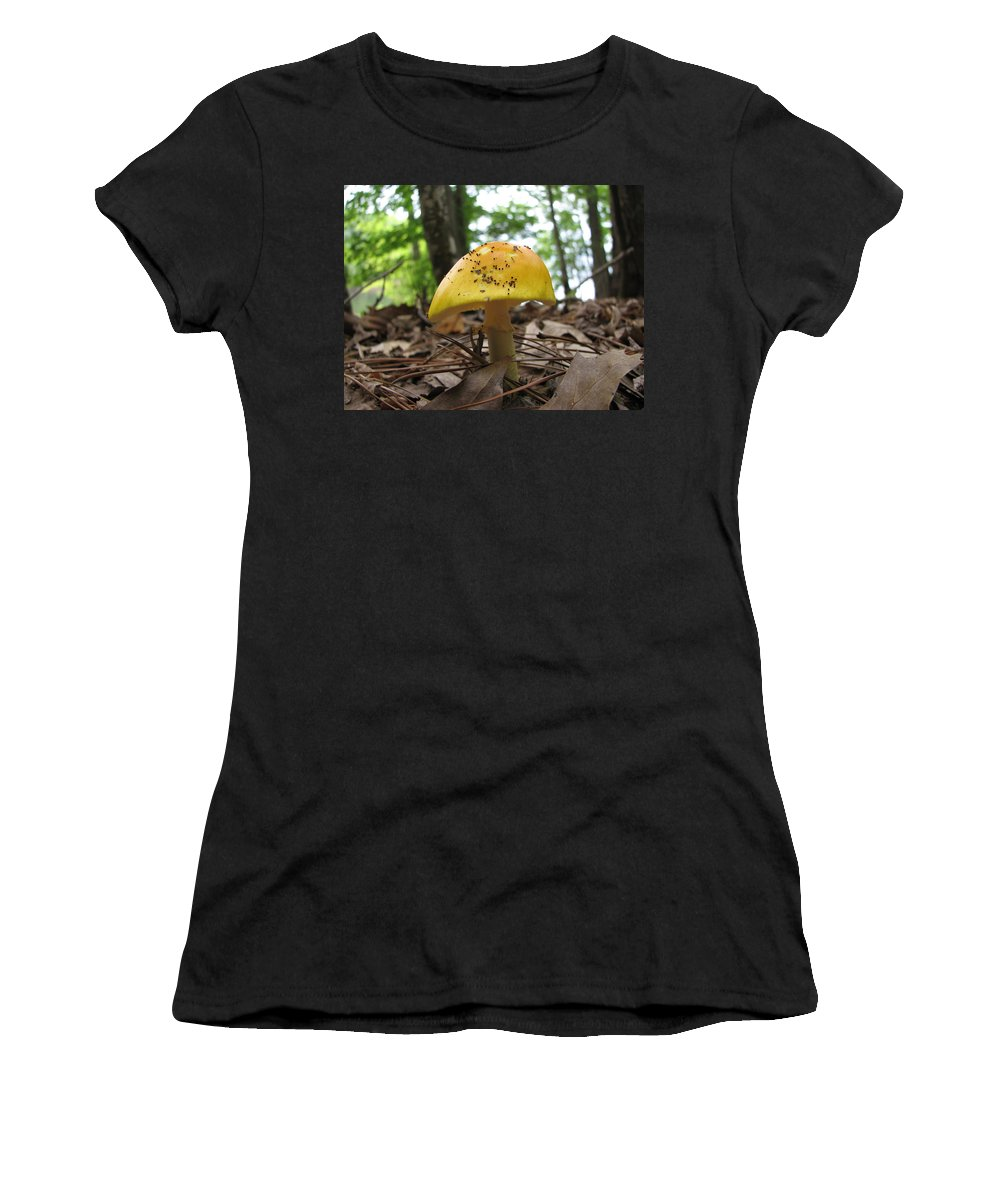 Toad Stool Women's T-Shirt (Athletic Fit) featuring the photograph Toad Stool IIi by Stacey May