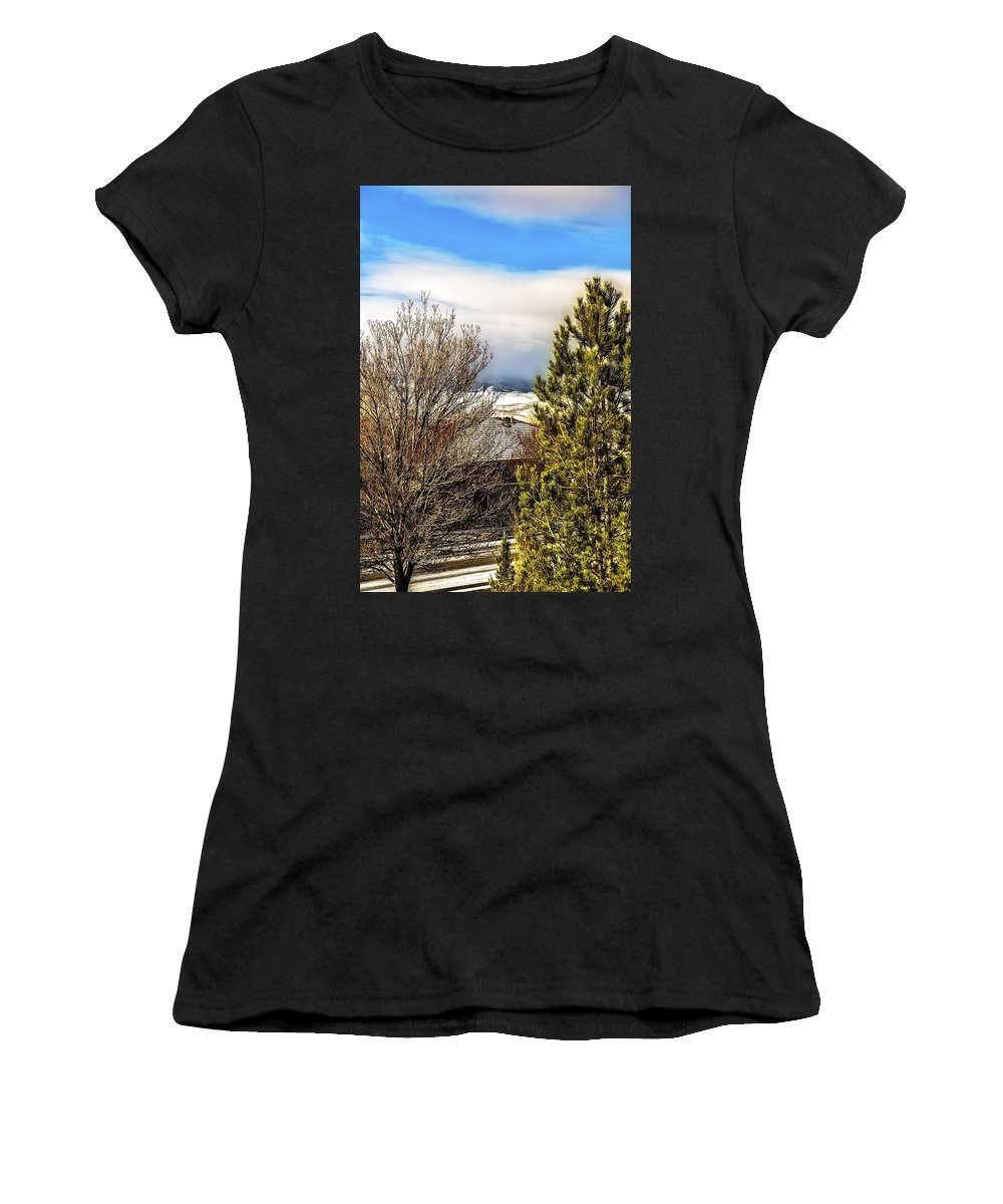 Pines Women's T-Shirt featuring the photograph Today The Weather Report by Nancy Marie Ricketts