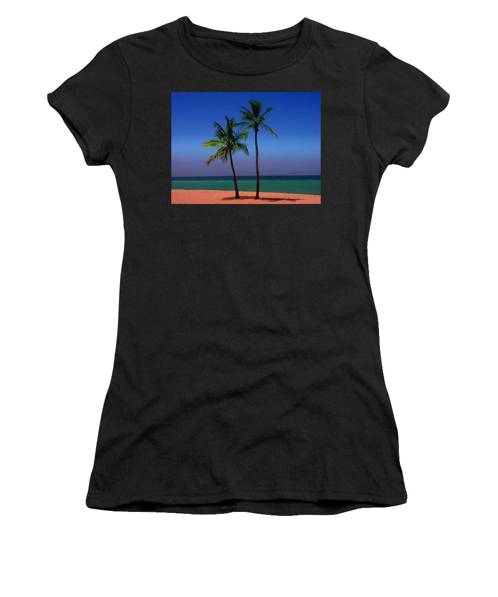 Photography Women's T-Shirt (Athletic Fit) featuring the photograph Together by Susanne Van Hulst