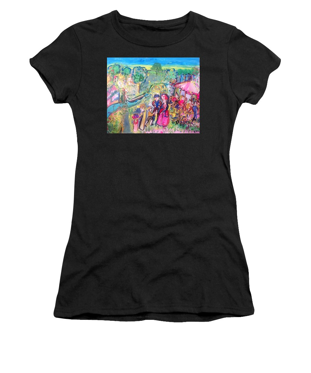 Fair Women's T-Shirt (Athletic Fit) featuring the painting Tomorrow's Fair At Last by Judith Desrosiers