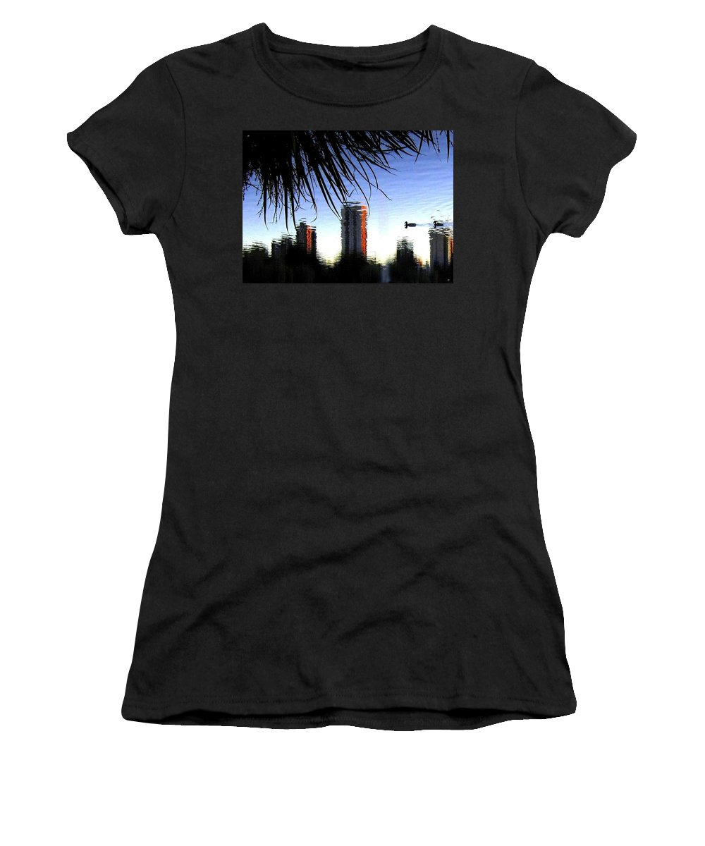 Sunset Women's T-Shirt (Athletic Fit) featuring the photograph Topsy-turvy by Will Borden