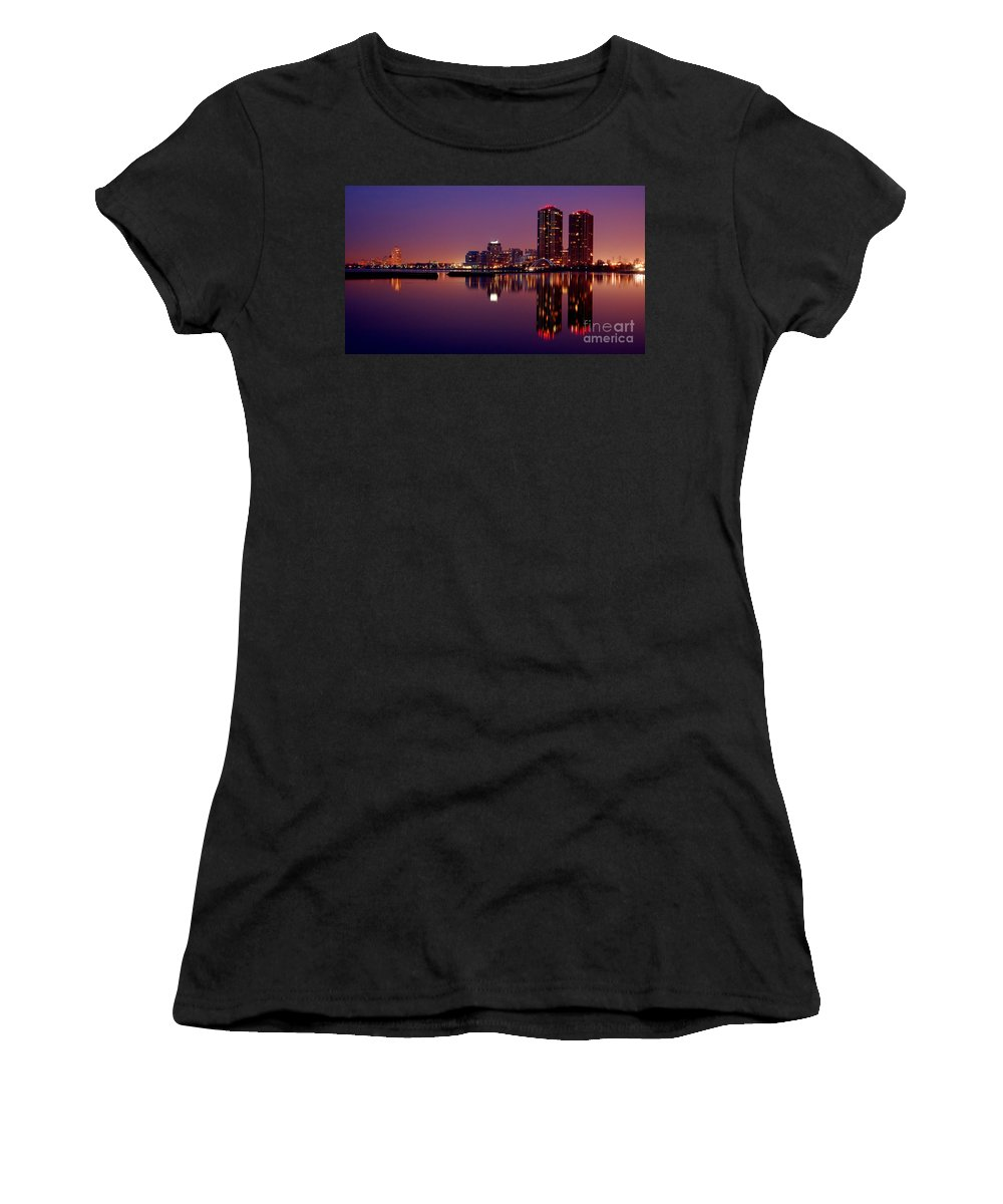 Water Women's T-Shirt (Athletic Fit) featuring the photograph Toronto Cracking Dawn by Joe Ng