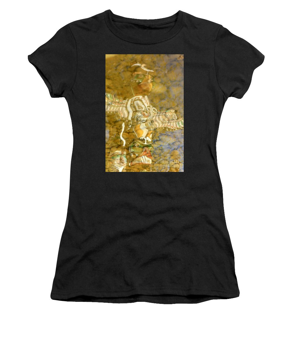 Totem Women's T-Shirt (Athletic Fit) featuring the photograph Totem Graphics by Frank Townsley