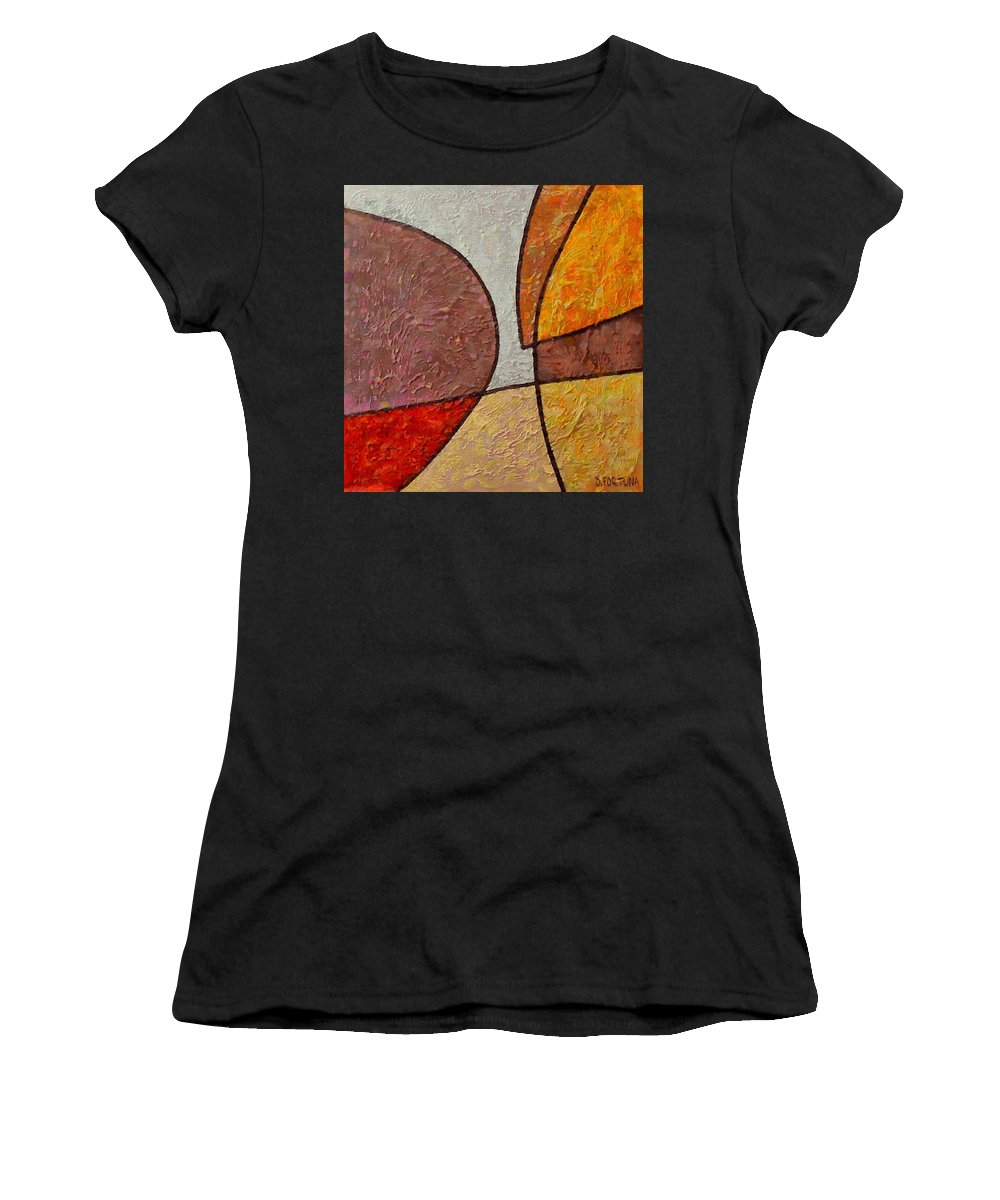 Mixed Media Women's T-Shirt (Athletic Fit) featuring the mixed media Touch by Dragica Micki Fortuna