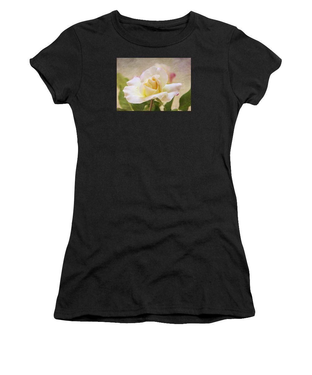 Rose Women's T-Shirt featuring the photograph Touch Of Pink by Cathy Kovarik