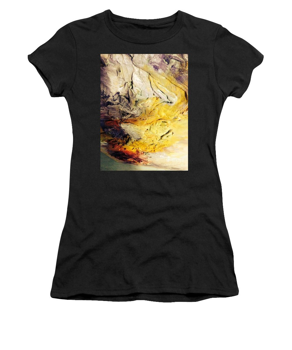 Igbeyin Women's T-Shirt (Athletic Fit) featuring the painting Towards by Yinka Olaiya