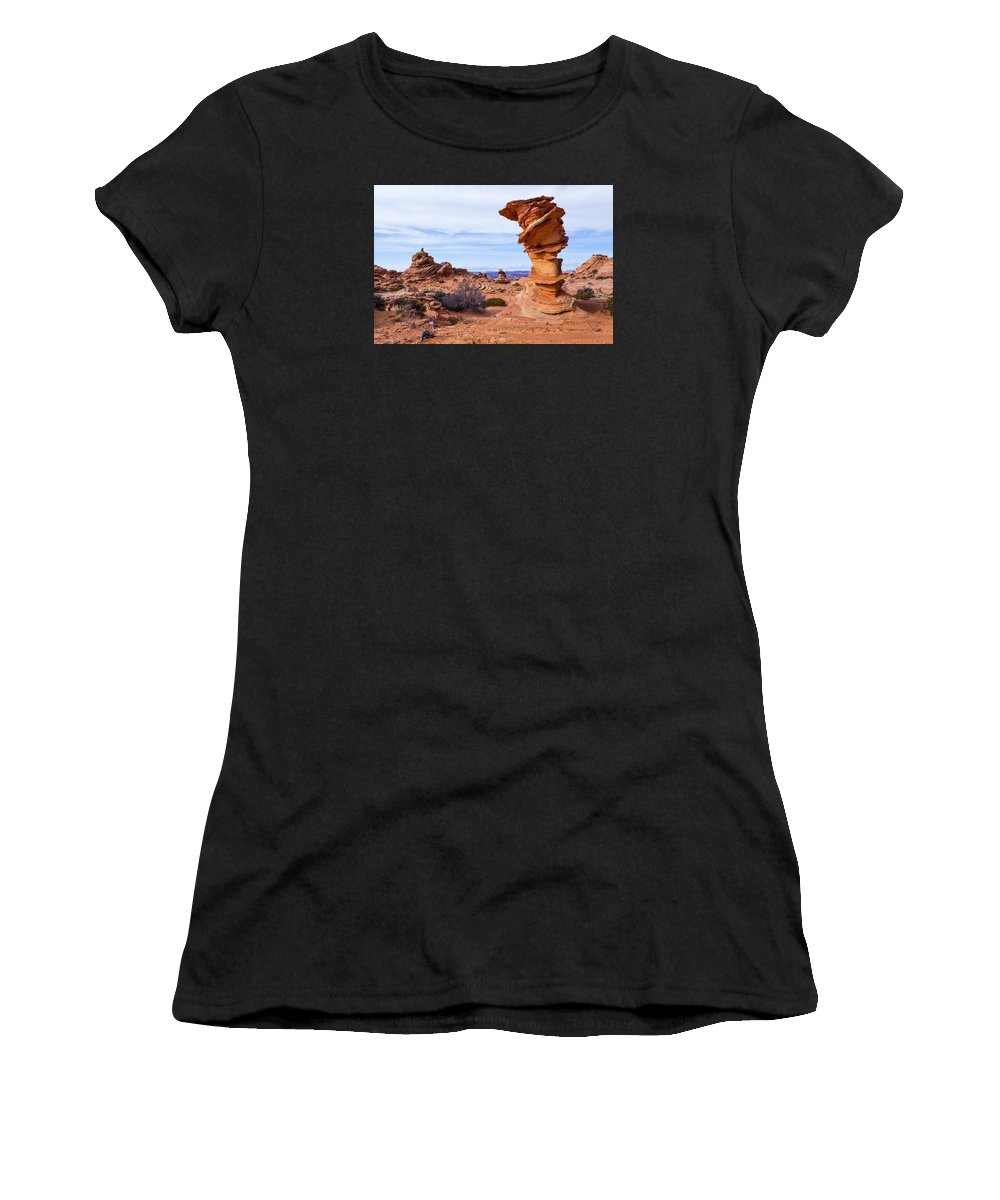 Towerscape Women's T-Shirt featuring the photograph Towerscape by Chad Dutson