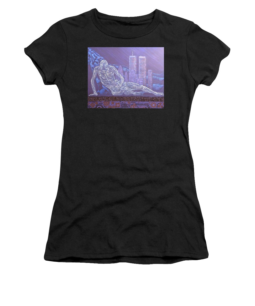 War Women's T-Shirt featuring the painting Toy Soldiers by Judy Henninger