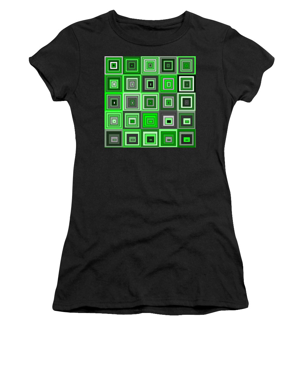 Abstract Women's T-Shirt featuring the digital art Tp.1.58 by Gareth Lewis