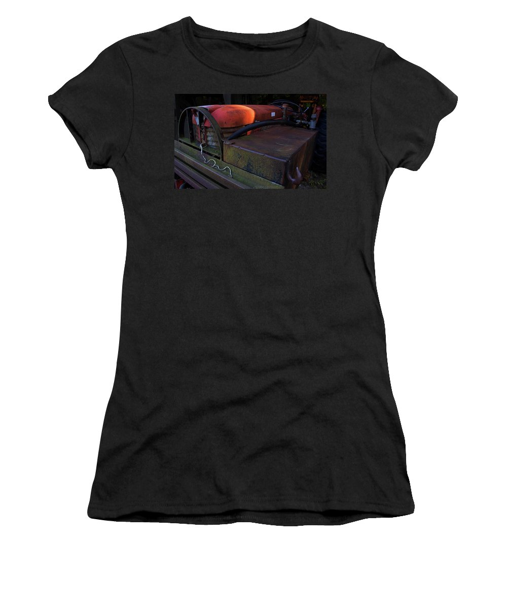 Tractor Women's T-Shirt (Athletic Fit) featuring the digital art Tractor by Jerry LoFaro