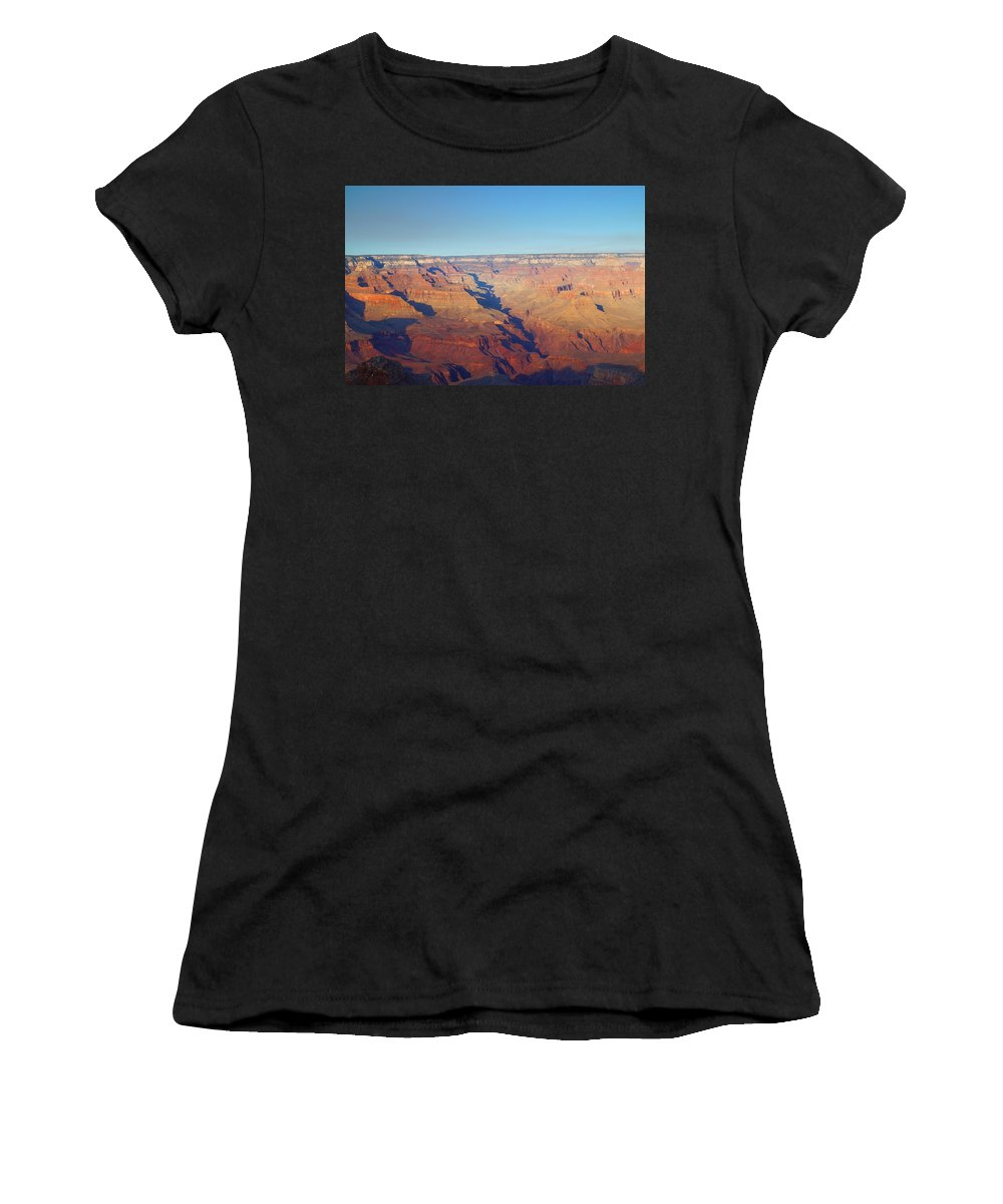 Autumn Women's T-Shirt (Athletic Fit) featuring the photograph Trailview Overlook Iv by Beth Collins