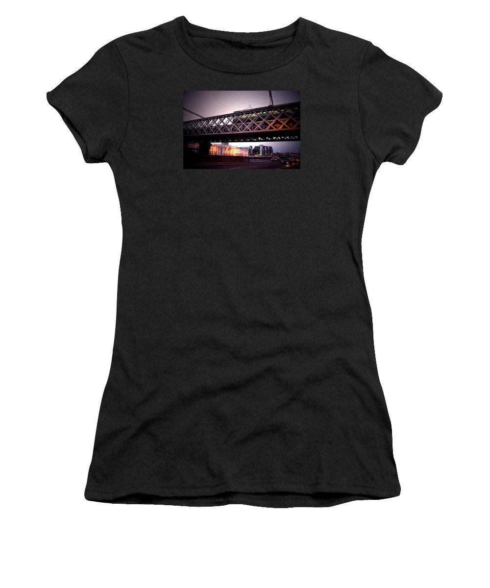 Train Women's T-Shirt (Athletic Fit) featuring the photograph Train II by Bastian Brisch
