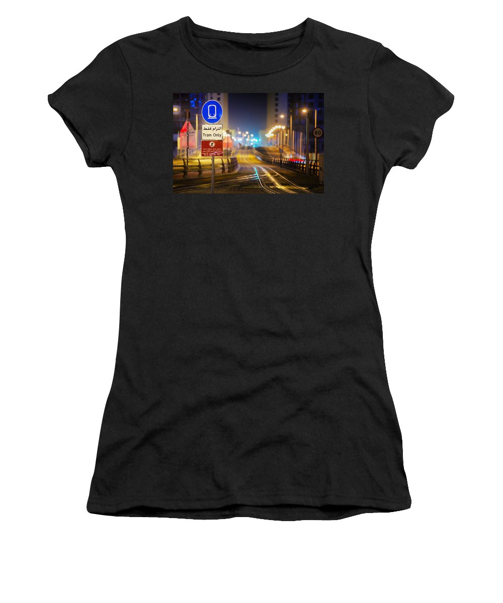 Urban Women's T-Shirt featuring the photograph Tram Only by Robert Work