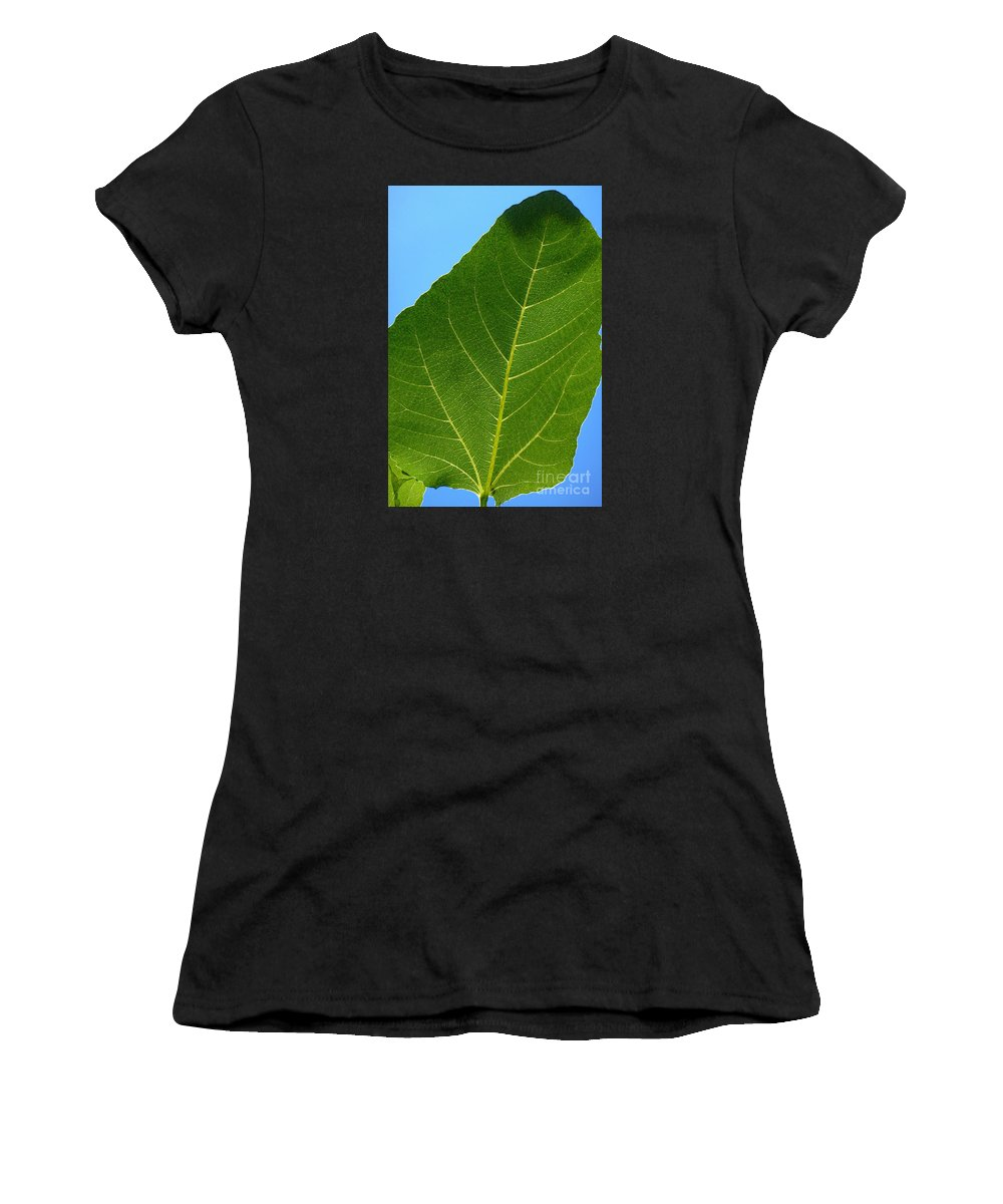 Abstract Women's T-Shirt featuring the photograph Transparence 18 by Jean Bernard Roussilhe