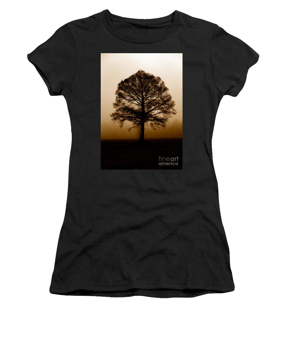 Trees Women's T-Shirt (Athletic Fit) featuring the photograph Tree by Amanda Barcon