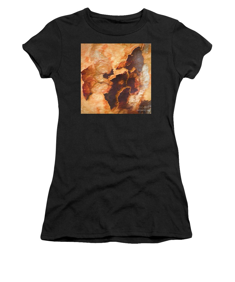 Tree Women's T-Shirt (Athletic Fit) featuring the photograph Tree Bark Collection # 49 by Philip Johnson