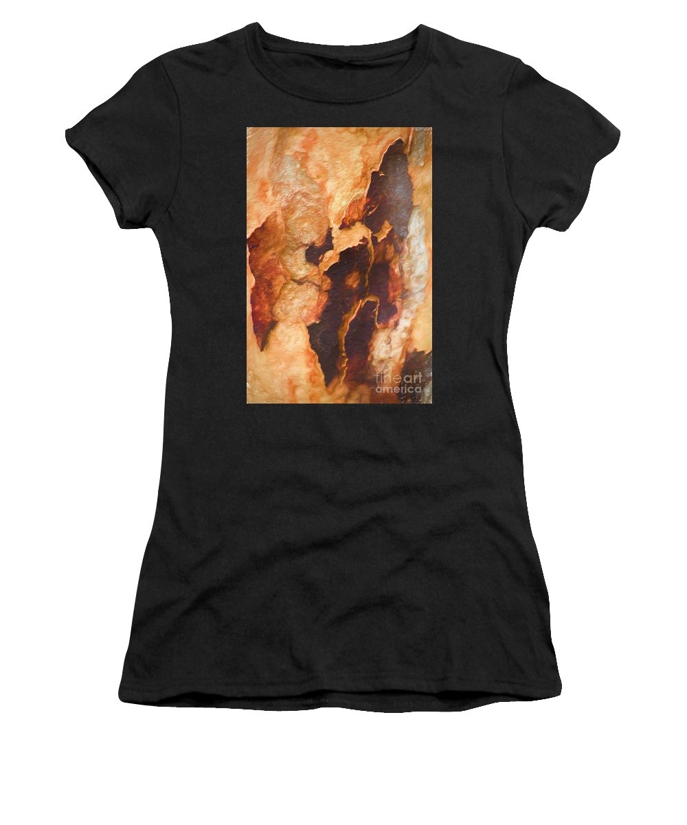 Tree Women's T-Shirt (Athletic Fit) featuring the photograph Tree Bark Collection # 50 by Philip Johnson