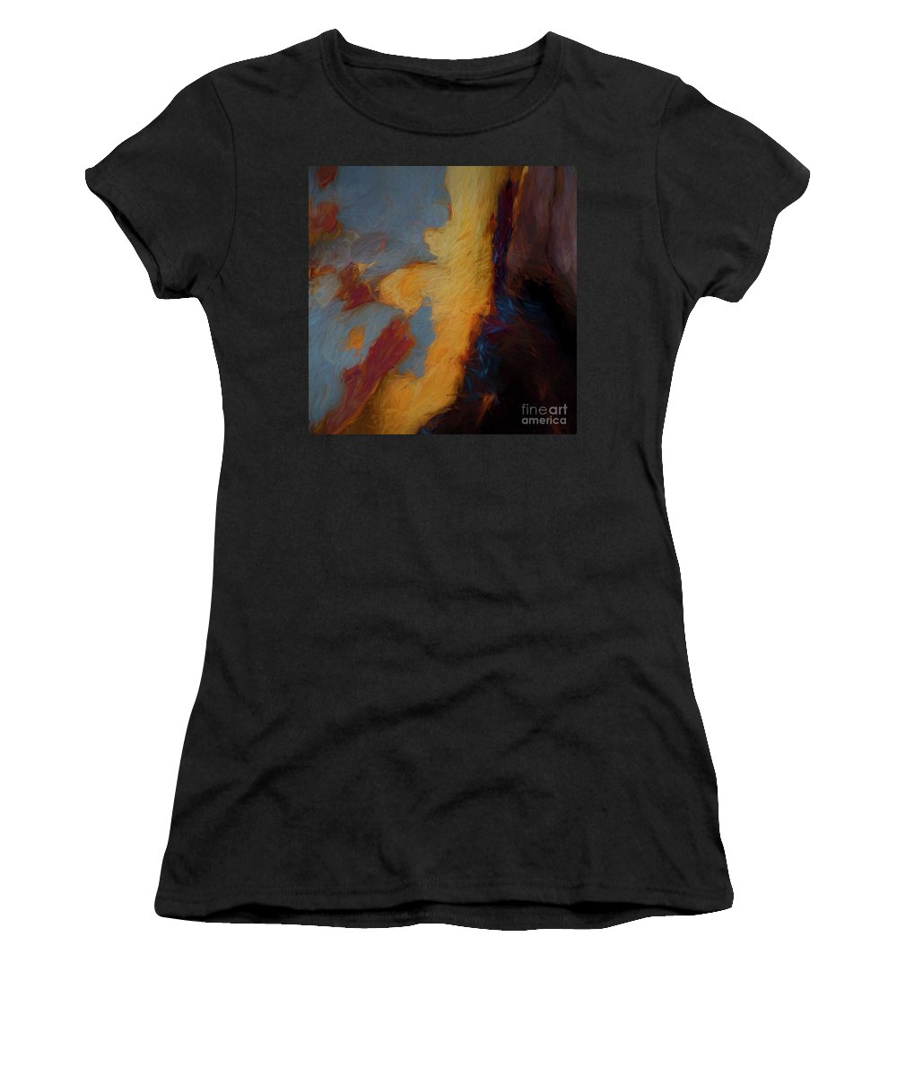Tree Women's T-Shirt (Athletic Fit) featuring the photograph Tree Bark Collection # 51 by Philip Johnson