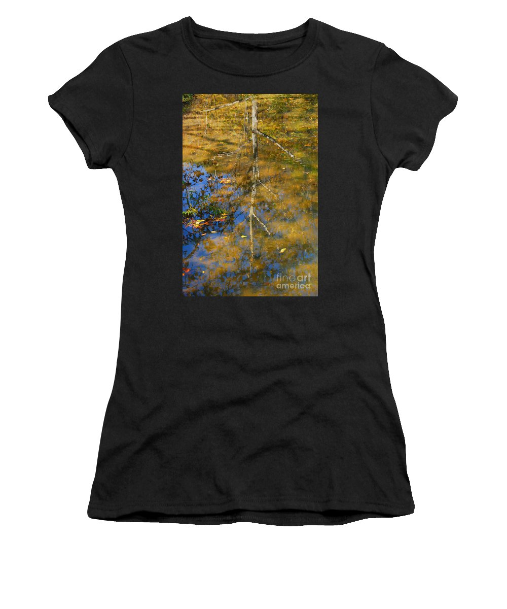 Tree Women's T-Shirt (Athletic Fit) featuring the photograph Tree Reflections by Kerri Farley