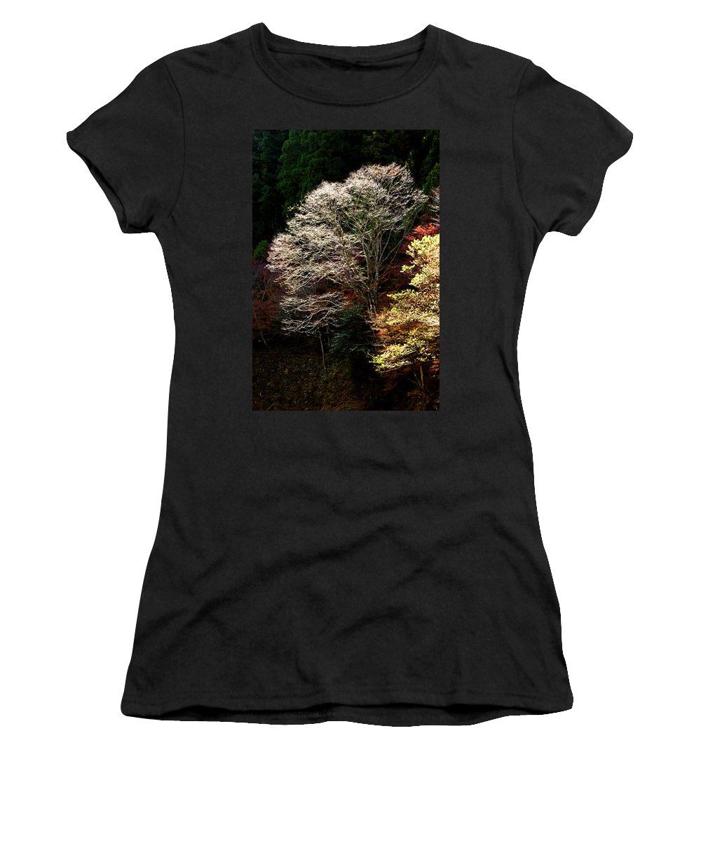 Trees Women's T-Shirt (Athletic Fit) featuring the photograph Trees In Japan 11 by George Cabig