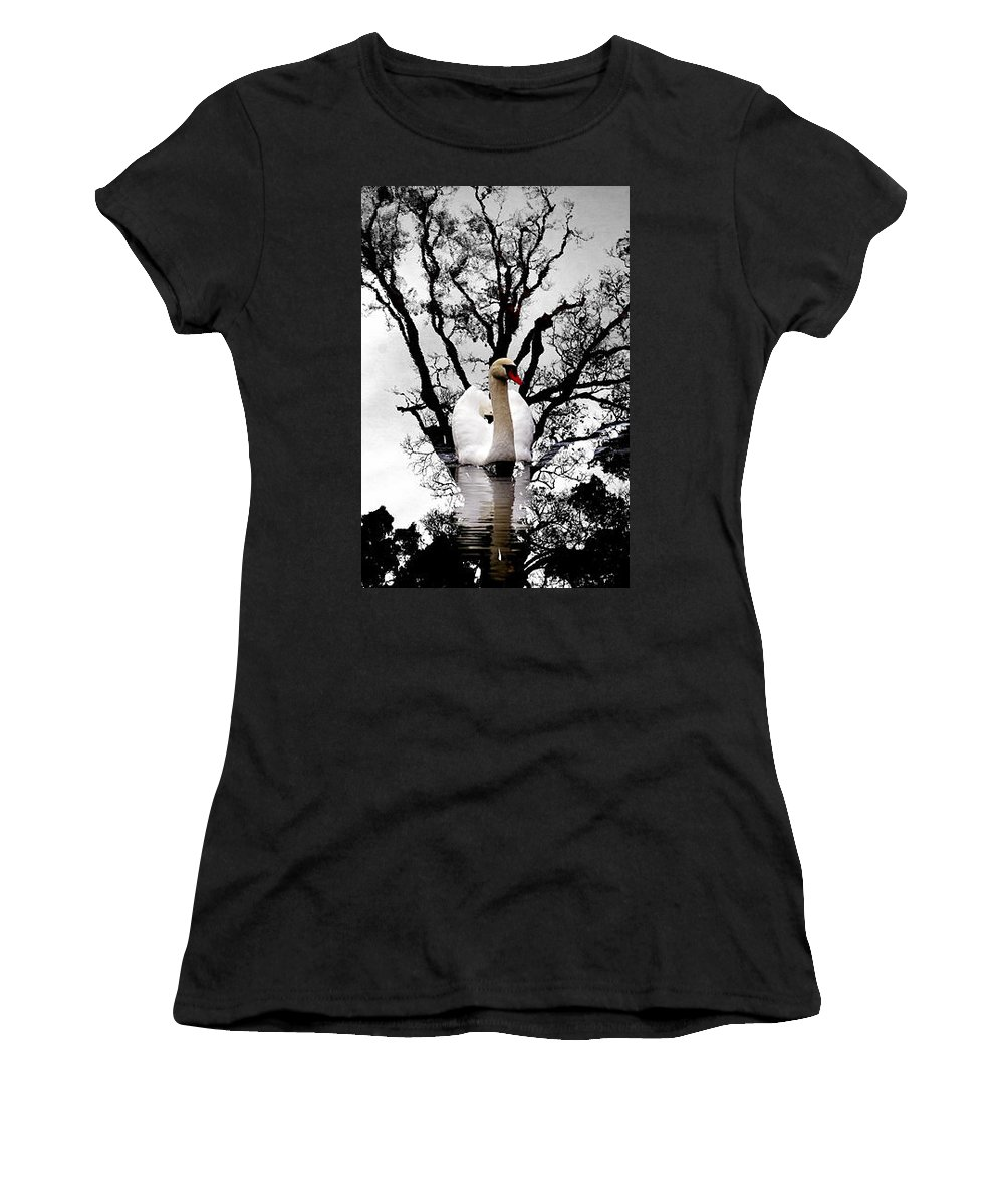 Water Women's T-Shirt (Athletic Fit) featuring the photograph Trees In Japan 6 by George Cabig