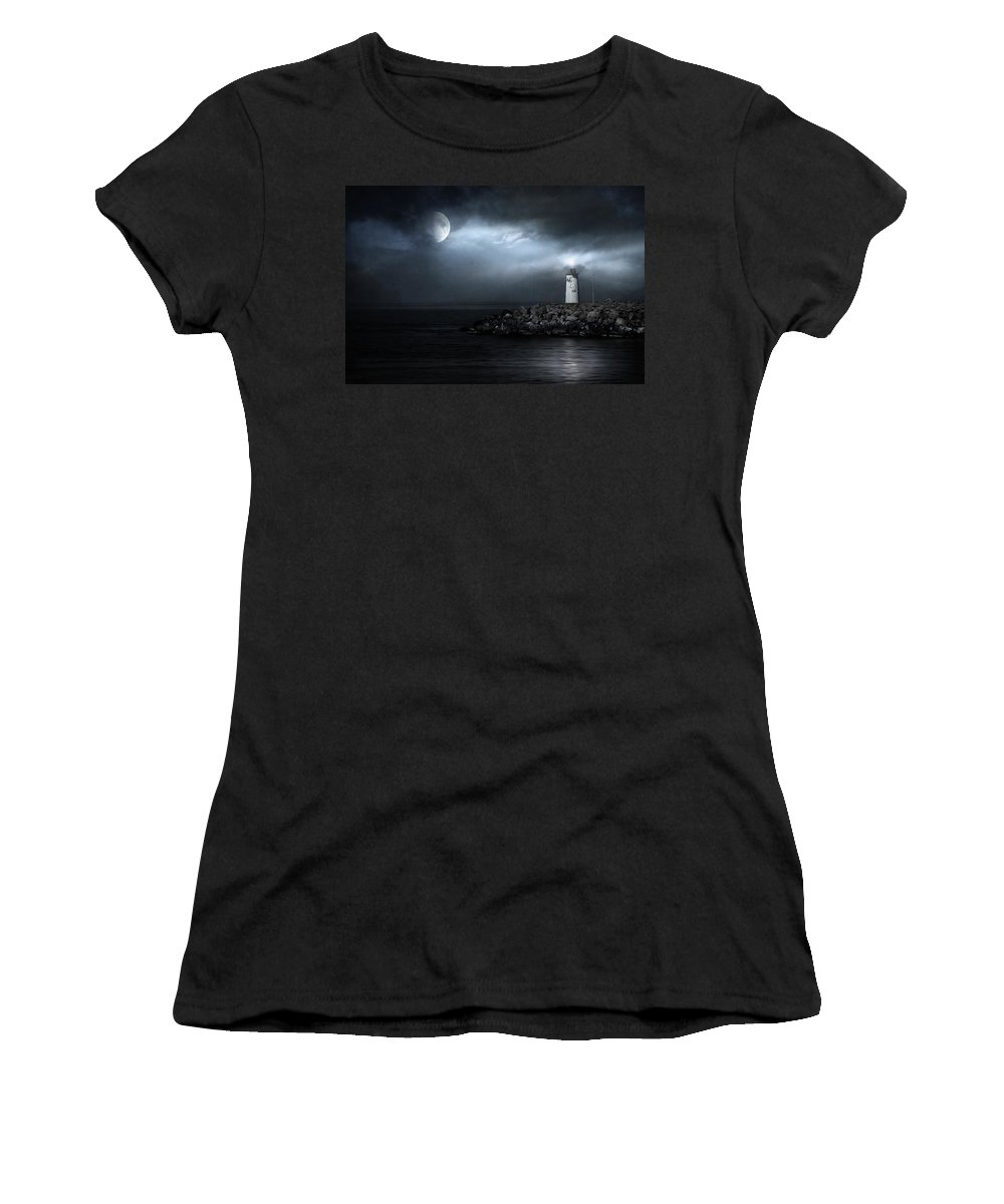 Lighthouse Women's T-Shirt featuring the photograph Tres Deseos by Zapista