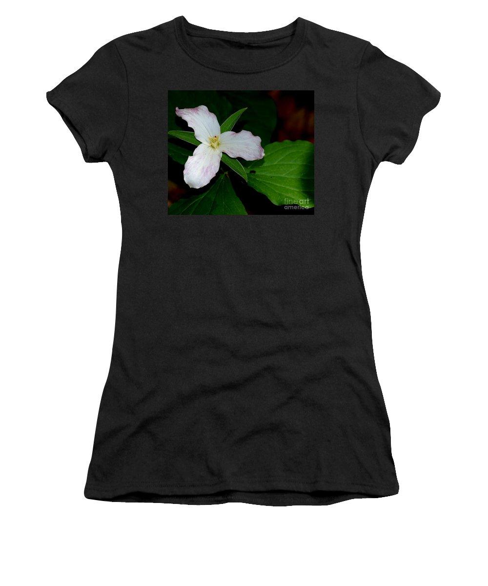 Landscape Women's T-Shirt (Athletic Fit) featuring the photograph Trillium by David Lane
