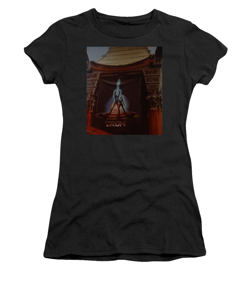 Grumanns Chinese Theater Women's T-Shirt (Athletic Fit) featuring the photograph Tron by Rob Hans