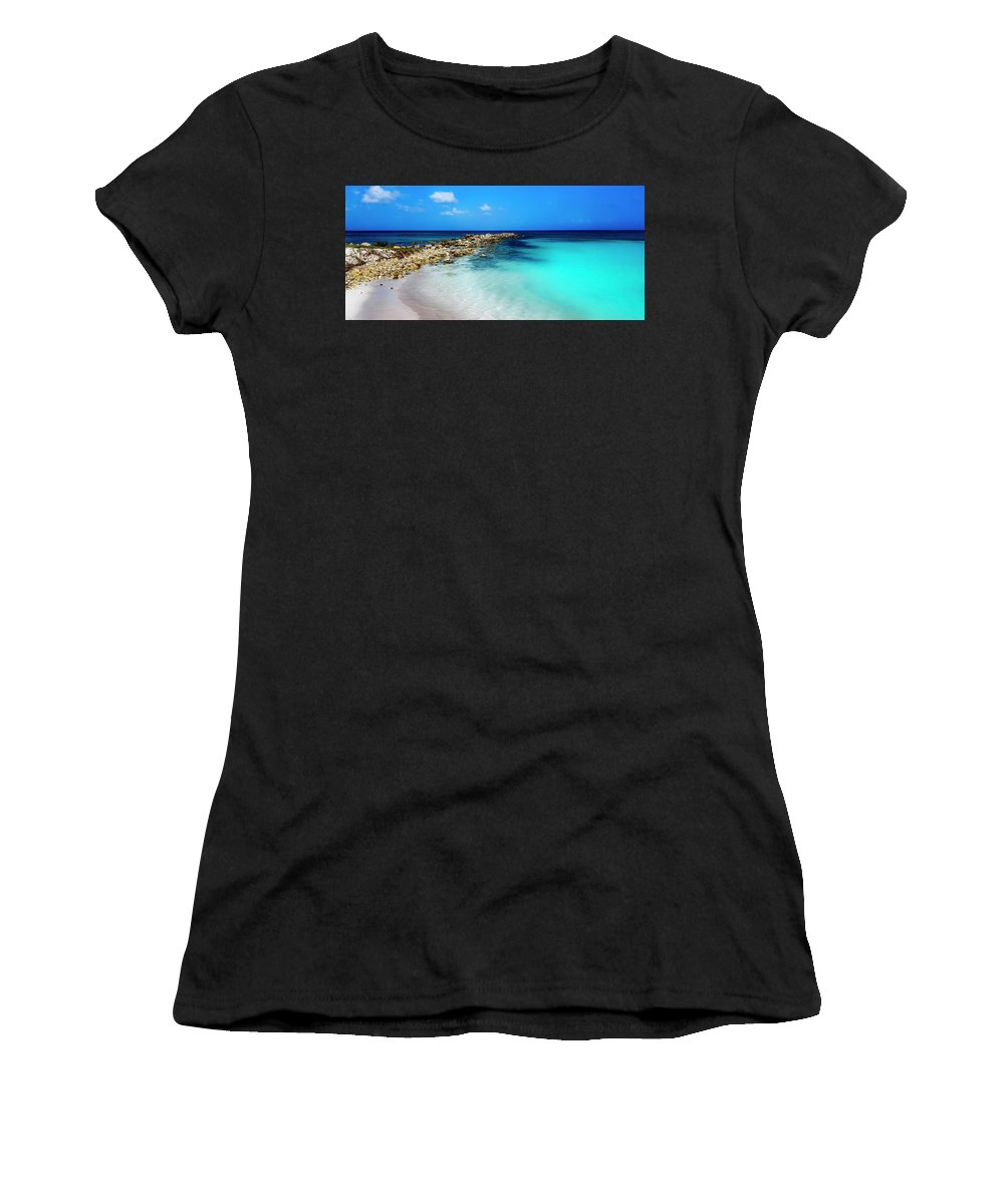Nature Women's T-Shirt (Athletic Fit) featuring the photograph Tropical Blues by Alex Walker