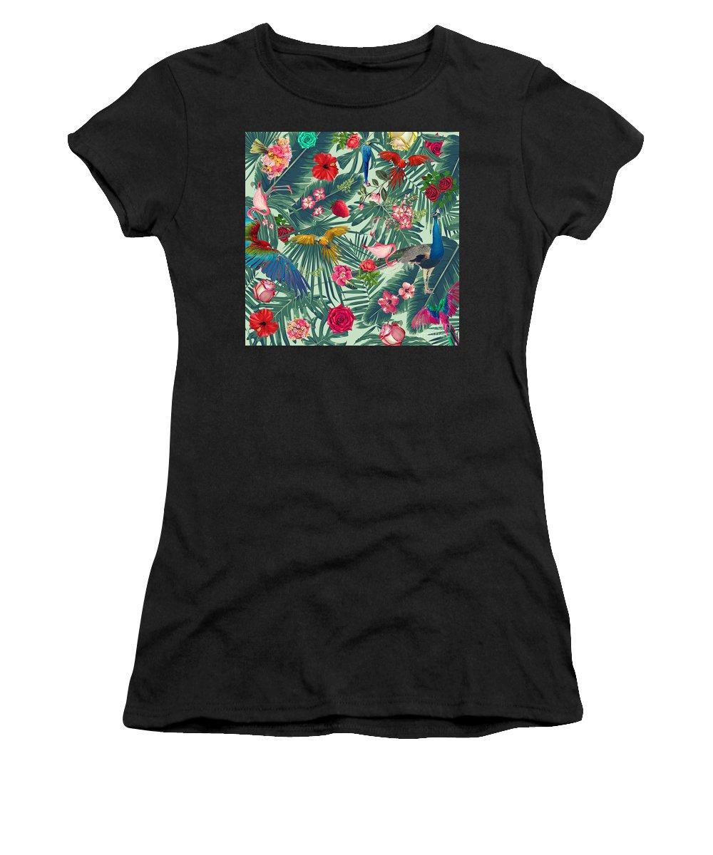 Summer Women's T-Shirt featuring the photograph Tropical Fun Time by Mark Ashkenazi